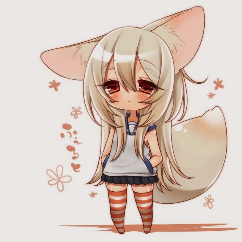 Chibi anime simple background anime girls inumimi white background hd wallpapers